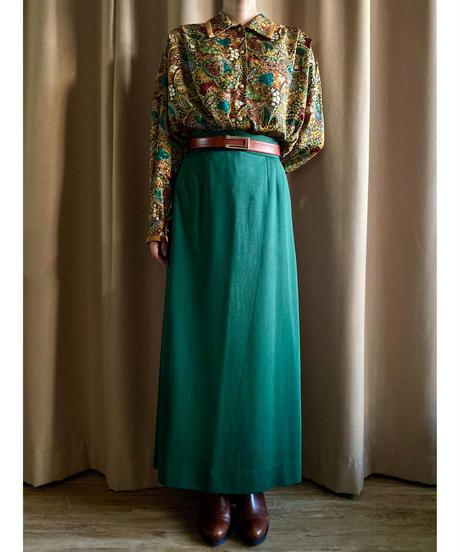 Flower paisley gold button classic shirt-2225-10