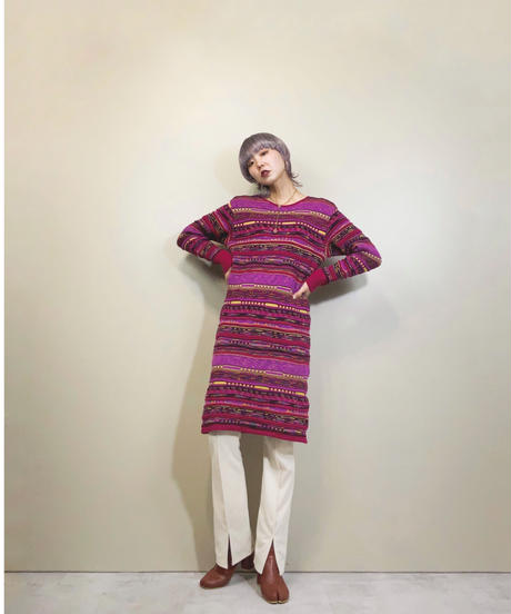Givy cheerful color 3D knit dress-1603-1