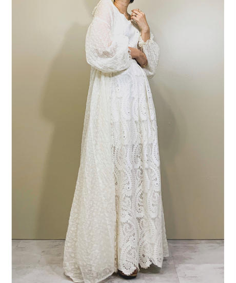 Jula flower embroidery vintage  gown-1151-5