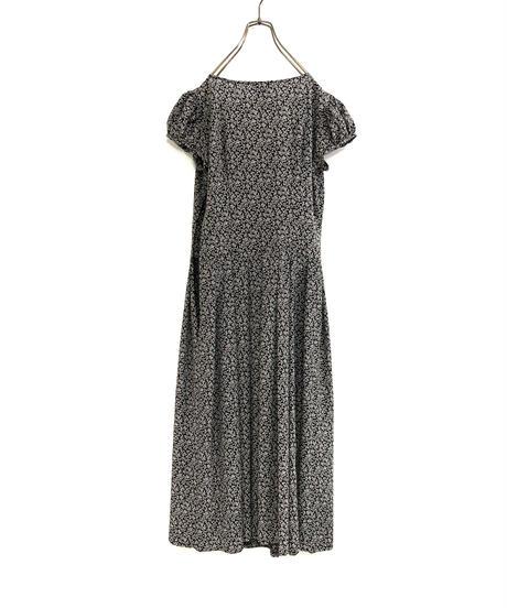 puff sleeve design classical long dress-1897-5