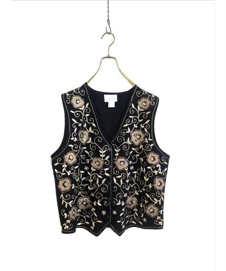 Vine embroidery import cotton vest-1420-9