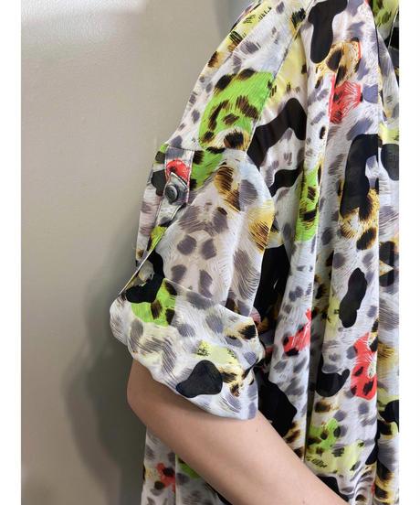 Vivid color leopard over size shirt-1964-6