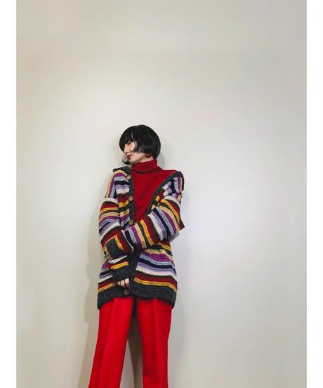 PAZZO GLOBALLINE rainbow  knit  cardigan-1568-12