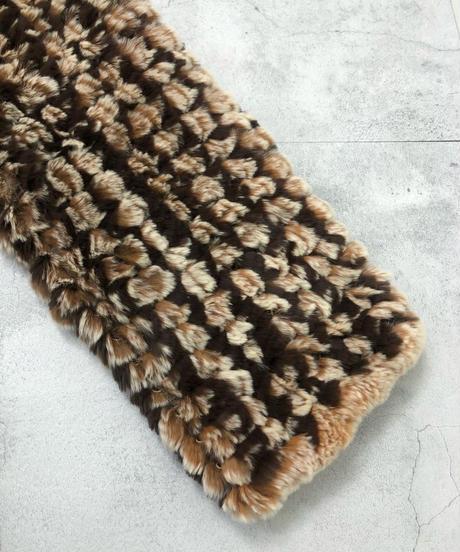Rabbit fur brown color jacket-1684-2