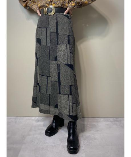 Geometric design retro modern skirt-2163-6