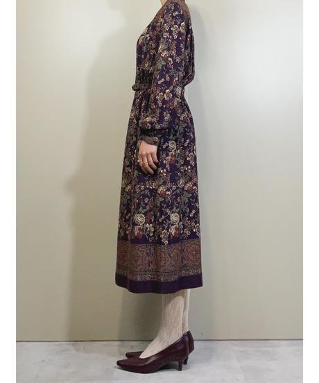 BONARU vintage color classical dress-1648-2