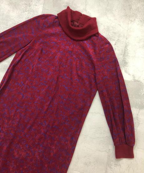 Christian Ada wine-red dress-1636-1
