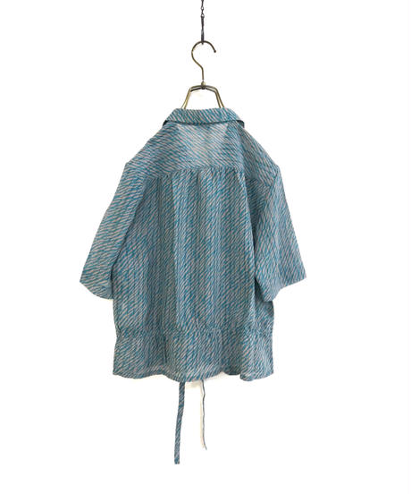 RAPINTON waist gather open collar shirt1916-5