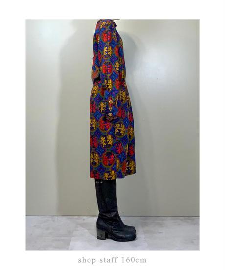 OLEG CASSINI royal pattern import dress-2135-8