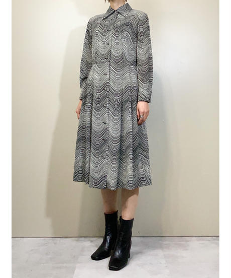 Hanasaki wave pattern rétro dress-1688-2