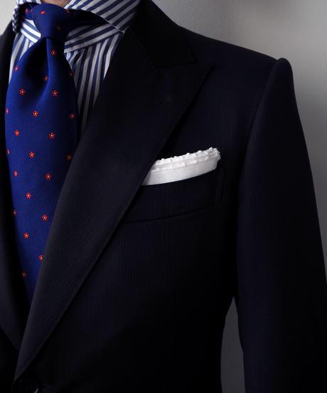 PICOT手刺繍 ・ポケットチーフ  #PS1604