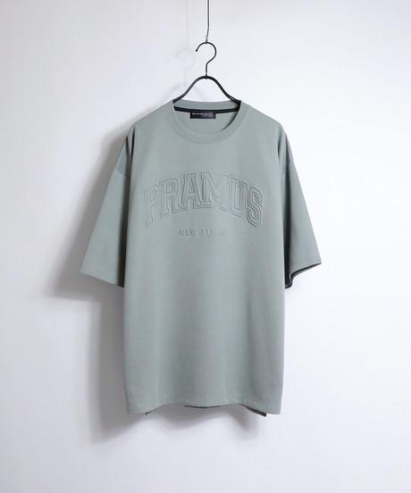 カレッジロゴ エンボスプリントTシャツ /ミント