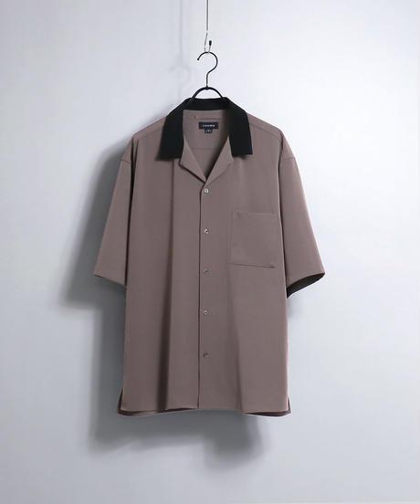 PEオープンカラーシャツ /ピンク2