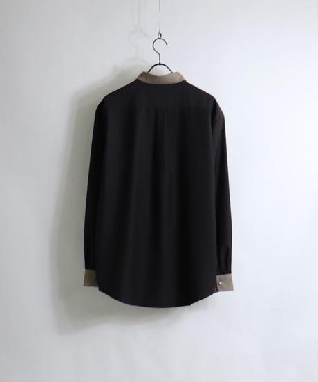 TRクレリックスナップ釦 LSシャツ /グレー