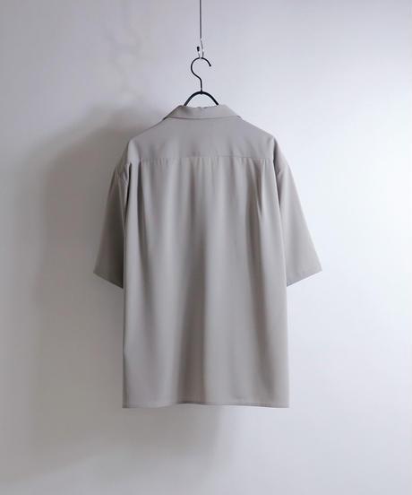 PEオープンカラーシャツ /グレー
