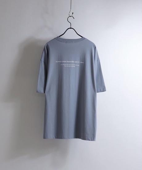 ロゴ刺繍Tシャツ /ブラック