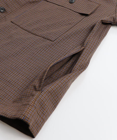 TRチェックCPOシャツJKT /ブラウン