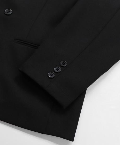【セットアップ対応】ダブルブレストジャケット/ブラック
