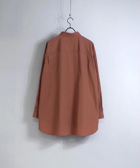 ソフトブロードビッグシルエットシャツ /オレンジ