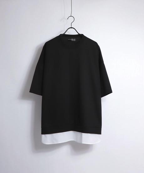 シャツレイヤードポンチTシャツ/パープル