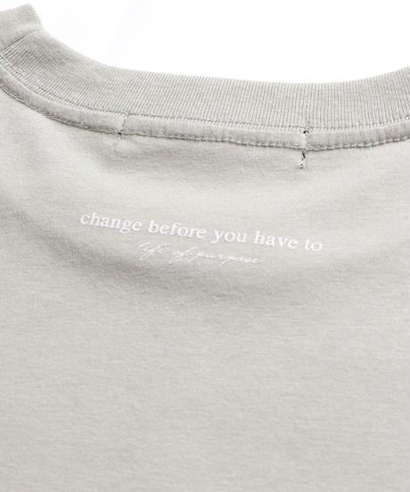 ビッグ刺繍ロゴTシャツ /ベージュ