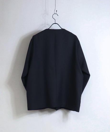 【セットアップ対応】ノーカラージャケット/ベージュ