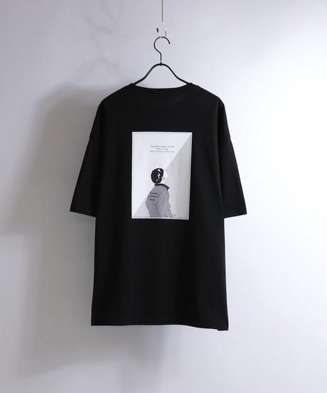 ピアスボーイプリントTシャツ /グレー