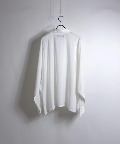 LS刺繍ラグランビッグシャツ /ホワイト
