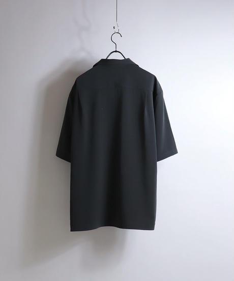 PEオープンカラーシャツ /チャコール