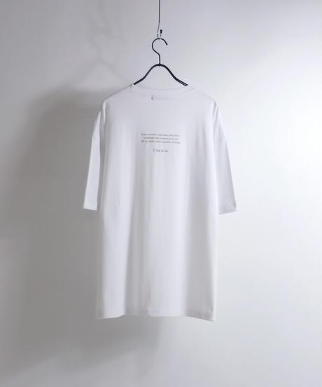 ロゴ刺繍Tシャツ /チャコール2