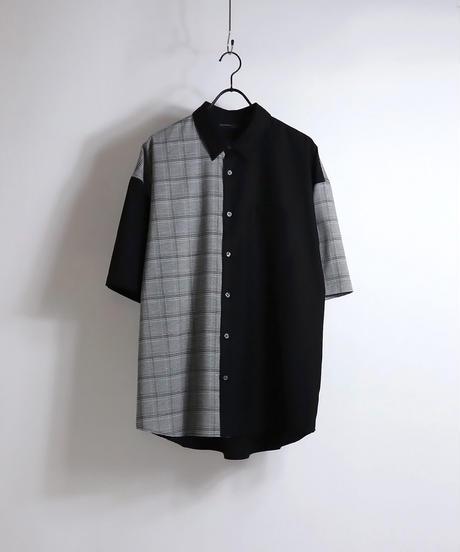 TRクレリック半袖ビッグシャツ /グレー