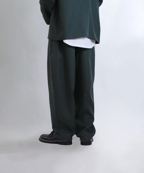 【セットアップ対応】ワイドバルーンパンツ/グリーン