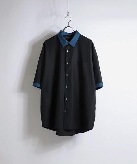 TRクレリック半袖ビッグシャツ /ホワイト