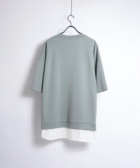 シャツレイヤードポンチTシャツ/ミント