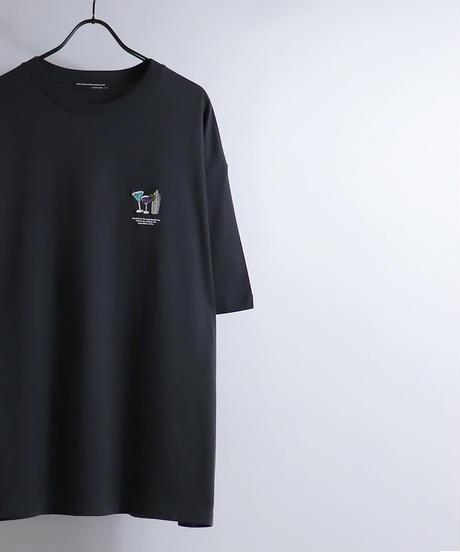 ワンポイントカクテル刺繍Tシャツ /ホワイト