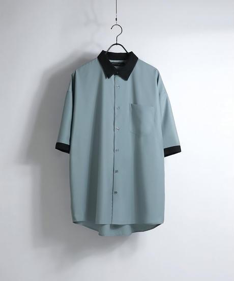 TRクレリック半袖ビッグシャツ /ベージュ2