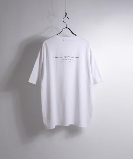 ロゴ刺繍Tシャツ /サックス