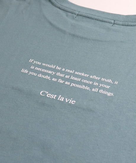 ロゴ刺繍Tシャツ /ミント2