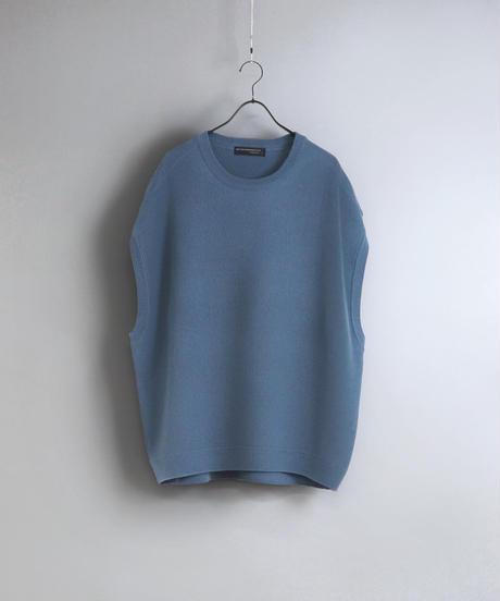 ルーズオーバーサイズニットベスト/ブルー
