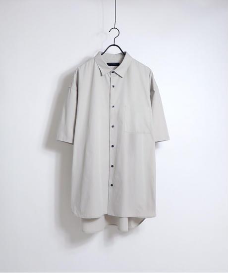 ソフトブロード半袖ビッグシャツ /サックス