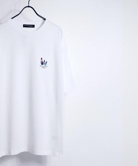 ワンポイントカクテル刺繍Tシャツ /ミント