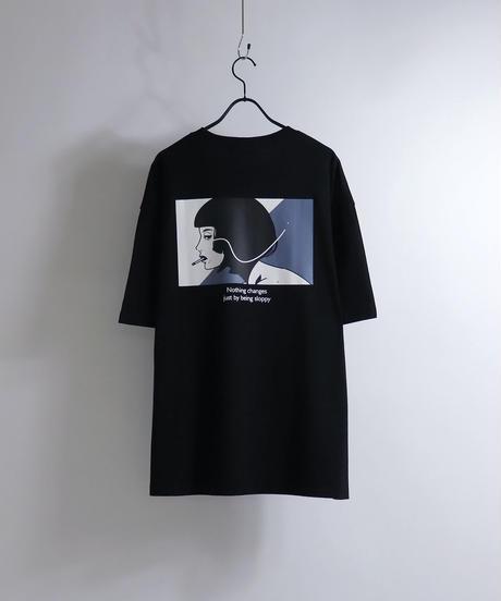 msy.×Confirm コラボプリントTシャツ /サックス