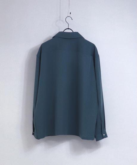 エステルテーラーカラージャケット/ブルー