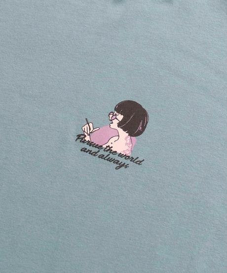 msy.×Confirm コラボプリントTシャツ /ミント3