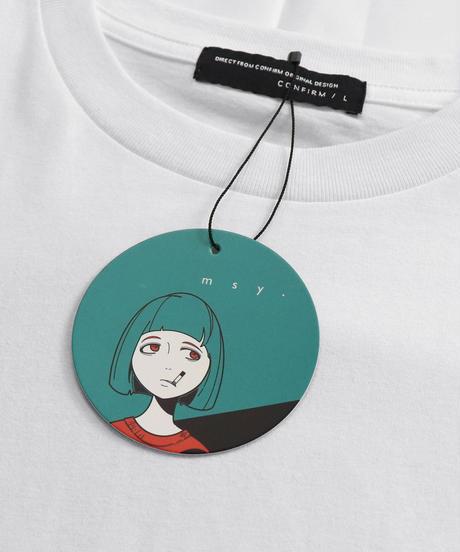 msy.×Confirm コラボプリントTシャツ /チャコール2