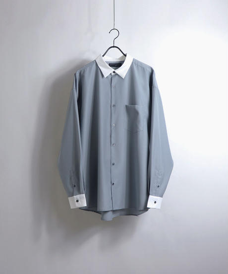 TRクレリックLSビッグシャツ /ブラック