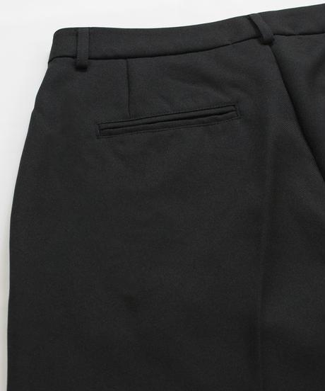 2タックストレートスラックスパンツ/ブラック