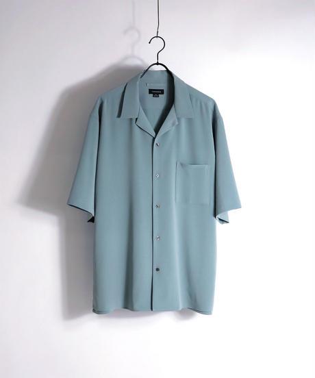 PEオープンカラーシャツ /ブルー2
