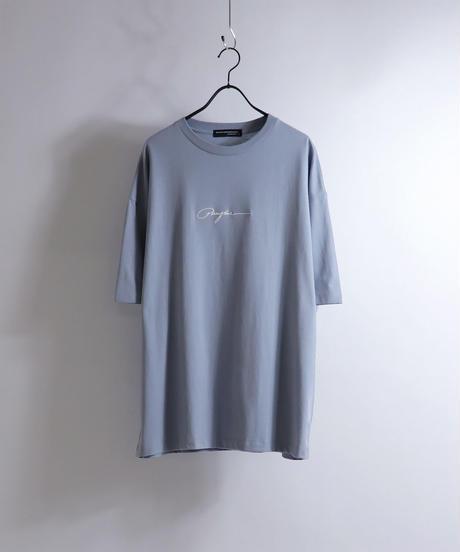 ピアスボーイプリントTシャツ /サックス