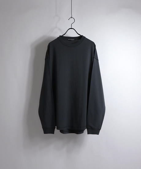 ラウンドルーズロンT /ブラック